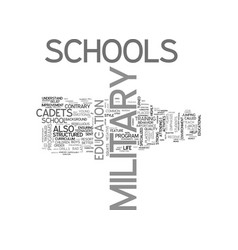 a quick guide to life at military school text vector image vector image