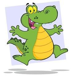 Alligator Or Crocodile Jumping vector image vector image