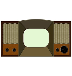 artwork will old tv vector image vector image