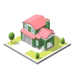 isometric buildingt Flat style vector image