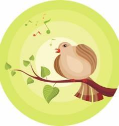 singing bird vector image vector image