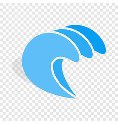 Water wave isometric icon vector