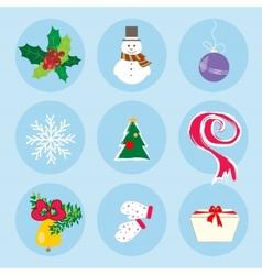 Christmas Winter Symbols Pattern Holiday Mood vector image vector image
