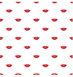 red lips pattern vector image vector image