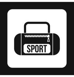 Sports bag icon simple style vector image