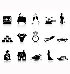 wealth and luxury icon vector image vector image