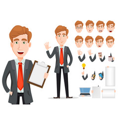 business man with blond hair cartoon character vector image vector image