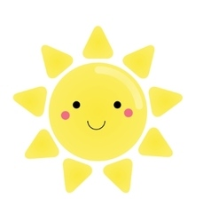 Cute kawaii sun character for vector image vector image