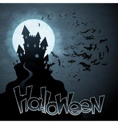 EPS 10 Halloween background with moon bats vector image