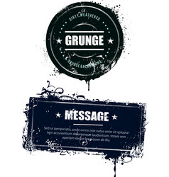 Grunge dirty banners vector image vector image