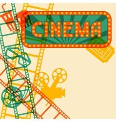 Movie and cinema retro background vector image