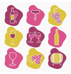 Set of wine making icons vector image