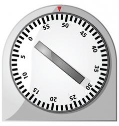 analog timer vector image