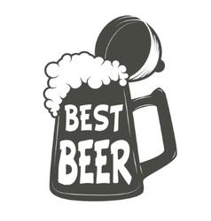 best beer Vintage beer mug vector image vector image