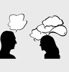 Dialogue between woman and man vector