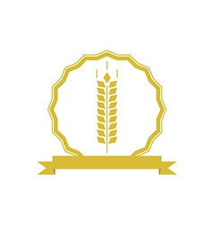 Ears wheat logo or emblem mockup concept organic vector image vector image