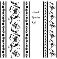 Floral borders vector image
