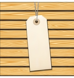 Label on wood vector image