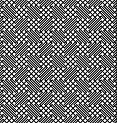 Seamless monochrome zig zag grid pattern vector image
