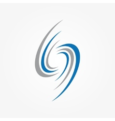 Spiral and swirls logo design elements vector image