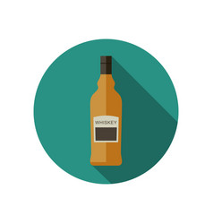 whiskey icon in flat style vector image