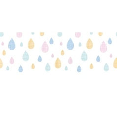 Abstract textile colorful rain drops horizontal vector image