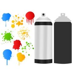 Aerosol paint stain vector