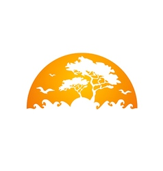 Africa tree forest abstract logo vector
