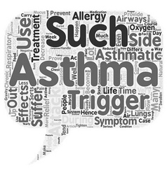 Asthma Attack Treatment Thanks To Hypnosis text vector