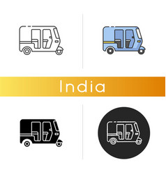 Auto rickshaw icon vector