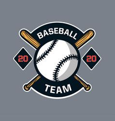 Baseball badge logo emblem template team club vector