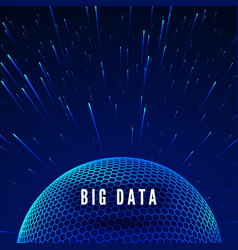 big data visualization data streams around global vector image