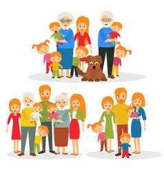 Big happy family vector
