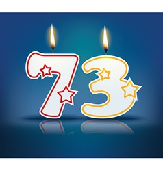 Birthday candle number 73 vector image
