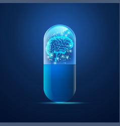 brain pill vector image