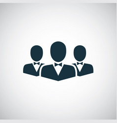 business team icon for web and ui on white vector image