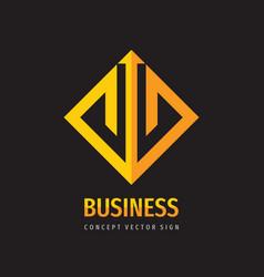 Business trend - concept logo design finance icon vector