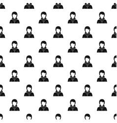 businesswoman avatar pattern vector image