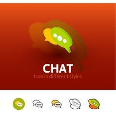 Chat icon in different style vector image