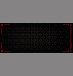 Chinese abstract pattern banner vector