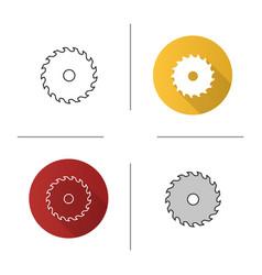 Circular saw blade icon vector