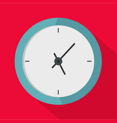 clock minimal icon flat style vector image
