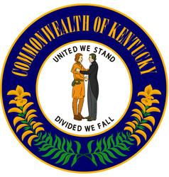 Coat of arms of kentucky usa vector