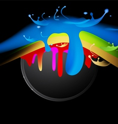 Colorful splash vector