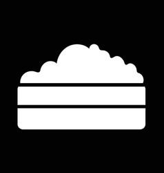 compost heap icon design vector image