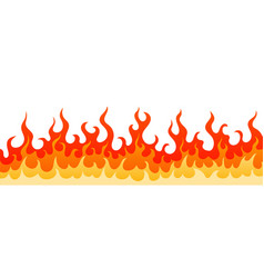 Decoration frame with hot burning fire flame sign vector