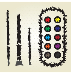 decorative palette vector image