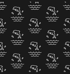 dolphin splashes pattern seamless vector image