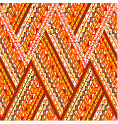 doodle elements zig zag pattern vector image