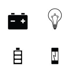 electrician icon set vector image